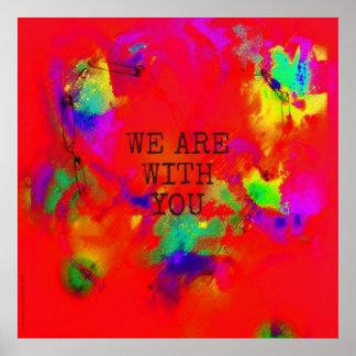Poster Nous sommes avec vous abrégé sur coeur de