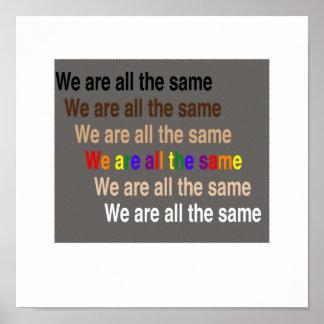 Poster Nous sommes tous les mêmes