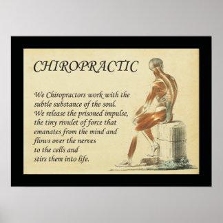Poster Nous travail de chiroprakteurs avec l'affiche