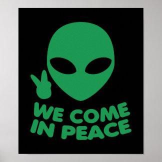 Poster Nous venons dans l'alien de paix