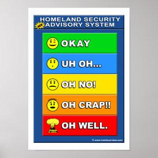 Poster Nouveau système consultatif de sécurité de patrie
