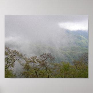 Poster Nuages parmi Blue Ridge Mountains, OR
