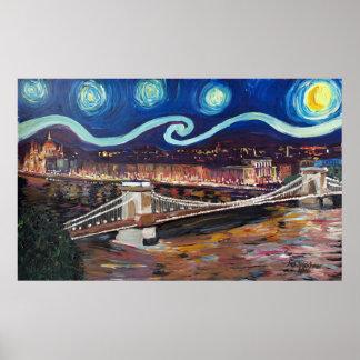 Poster Nuit étoilée à Budapest