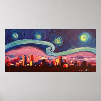 Poster Nuit étoilée à Denver