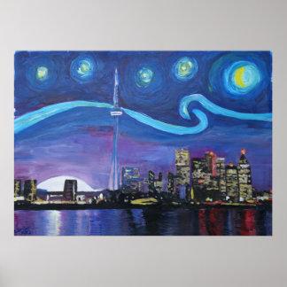 Poster Nuit étoilée à Toronto