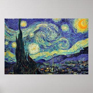 Poster Nuit étoilée par l'affiche de Van Gogh