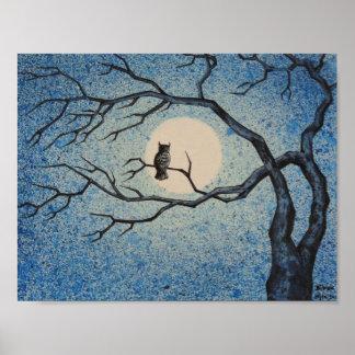 Poster Nuit-montre de hibou
