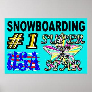 Poster Numéro un Etats-Unis faisant du surf des neiges le