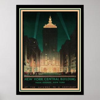 Poster NY /Helmsley central construisant ca.1930
