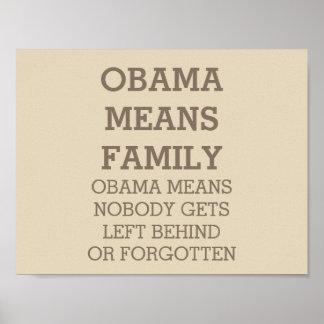 Poster Obama veut dire l'affiche de famille