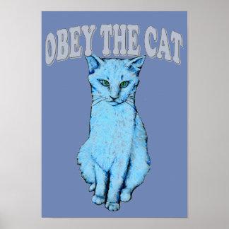 Poster Obéissez le chat