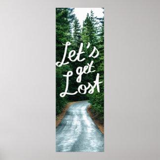 Poster Obtenons perdus ! Citez la forêt verte de