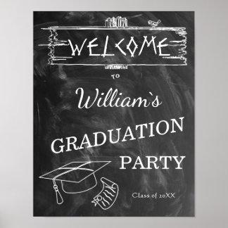 Poster Obtention du diplôme rustique simple bienvenue du