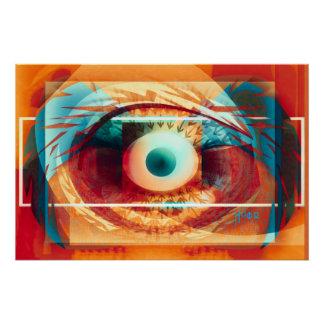 Poster oeil. gardez un ful de montre