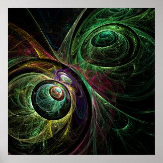 Poster Oeil pour observer la copie d'art abstrait