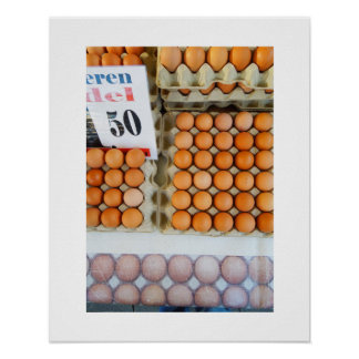Poster Oeufs néerlandais de photographie au marché