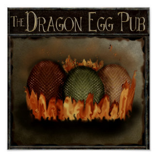Poster Oeufs obtenus de dragon ? signe magique de pub