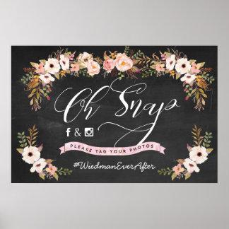 Poster Oh rupture ! Affiche de mariage de Hashtag