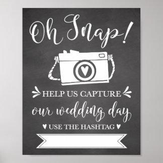 Poster Oh signe l'épousant instantané de Hashtag