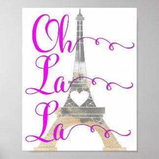 Poster Oh Tour Eiffel de La de La