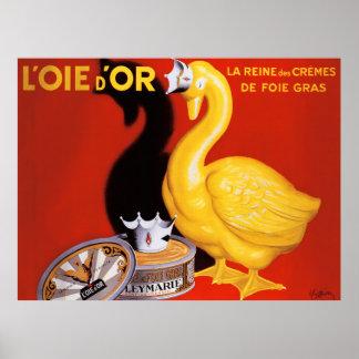 Poster Oie d'or de pâté de nourriture d'affiche française