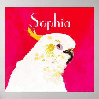 Poster Oiseau lumineux de cacatoès