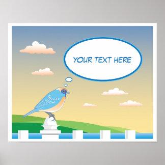 Poster Oiseau personnalisé par l'affiche des enfants de