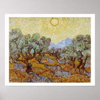 Poster Oliviers de Vincent van Gogh  , 1889