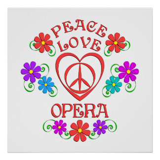 Poster Opéra d'amour de paix