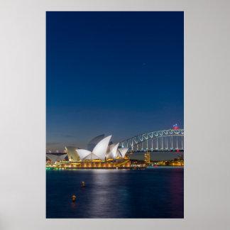 Poster Opéra de Sydney la nuit