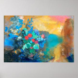 Poster Ophélie parmi les fleurs | Odilon Redon