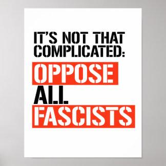 Poster Opposez-vous à tous les fascistes -