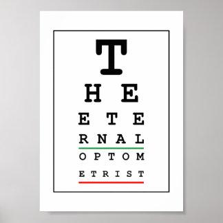 Poster Opticien drôle