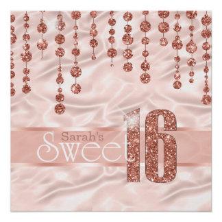 Poster Or rose ID260 de sweet sixteen de bijou de satin