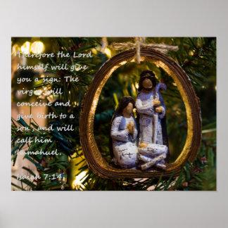 Poster Ornement Isiah sept quatorze de nativité