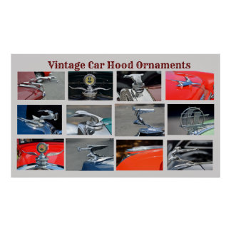 Poster Ornements vintages de capot de voiture