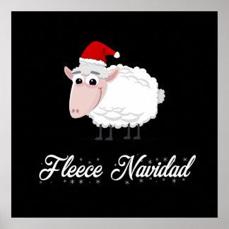 Poster Ouatine Navidad de moutons de bande dessinée