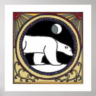Poster Ours blanc de Nouveau