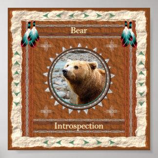 Poster Ours - copie d'affiche d'introspection