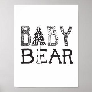 Poster Ours de bébé - affiche d'art de crèche ou de pièce