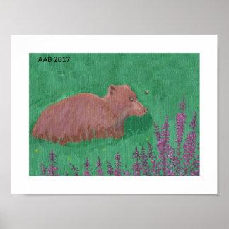 Poster Ours et bourdon d'Alaska
