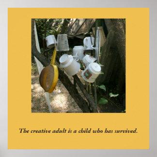 Poster Outre de l'affiche battue de créativité de chemin