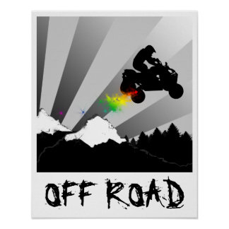 Poster outre des quadruples de route