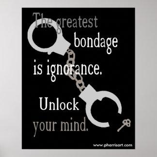 Poster Ouvrez votre affiche (noire) d'esprit