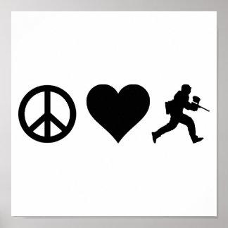 Poster Paintball d'amour de paix