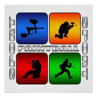 Poster Paintball spectaculaire