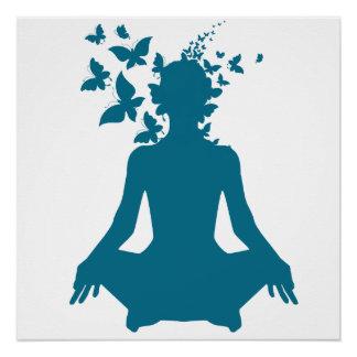 Poster paix de l'esprit positive d'énergie de méditation