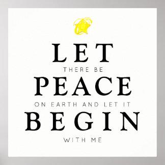 Poster Paix sur terre