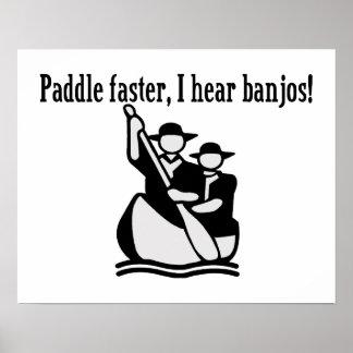 Poster Palette plus rapidement j'entends des banjos
