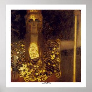 Poster Pallas Athéna par Gustav Klimt